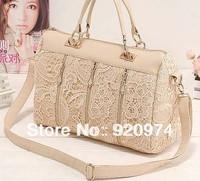 Free Shipping 2013 New Fashion Cutout Lace Crochet   Female Messenger Bags