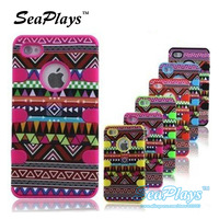 SeaPlays 12Pcs/lot  3 in 1 Combo Hybrid Shockproof Shock Dirt Proof Durable Case Cover For Apple iPhone 4 4G 4S Wholesale