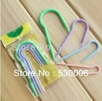 10 Sets/Lot 4 Sizes Specialized U Shape Plastic Crooked Needle Cable Stitch Holder Knitting Holder Needles DIY Tool-Random Color
