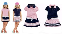 Free shipping, retails, kids clothes set,girls t shirt +dress, Sport suit, 1set/lot, no cap, 1set/lot--JYS02A