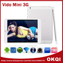 Vido Mini 3G Mini Pad 7.85 Inch IPS GPS Tablet PC MTK 8389 Quad Core 1.2GHz 3G IPS Bluetooth Dual Camera 5.0MP WCDMA + GSM OTG(China (Mainland))