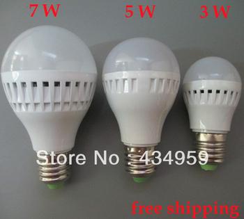 Big Sale Free Shipping 5pcs/lot E27 High Brightness Led Lighting 3w / 5w / 7w 210v-240v SMD2835 Led Lamp Bulb