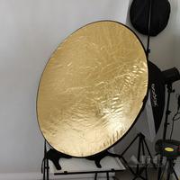 43Inch 110cm 5In1 Silver White Translucent Black Gold Collapsible Flash Light Reflector Diffuser Soft Photo Studio Accessories