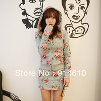 2013 new fashion women dress Korean fashion sweater new women skirt suit Cotton Dress 11641