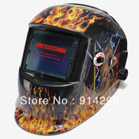 Free shipping Flame woman Solar Auto Darkening Welding Helmet Mask for ARC TIG MAG TAG