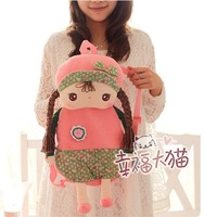 Free shipping kids gift super cute sweet metoo angela girl backpack children shoulder school bag plush doll toy,1pc