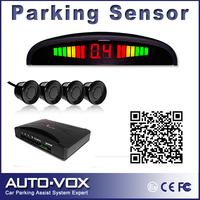 Free shipping LED Display Car Parking Sensor Kit Reverse Backup Reversing Radar System with 4 Sensors Parking Assistance