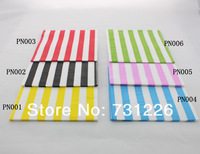 240 packs Colorful Striped Paper Napkins with Wooden Cutlery and Paper Dinnerware Set Best for Christmas Party Free Shipping