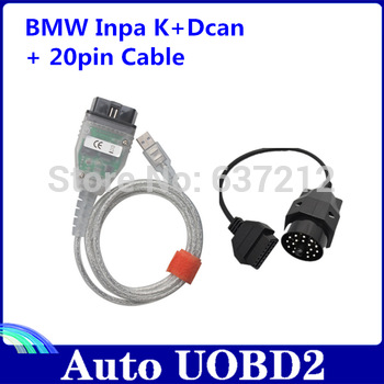 Free Shipping for BMW Inpa K+Can with 20pin Adapter