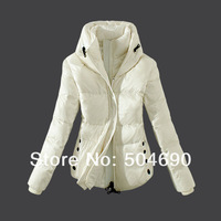 Orange White Black Brown 2013 Arrival Winter Jacket Parkas Brand Women Down Coat White Duck Feather Ladies Down Jacket