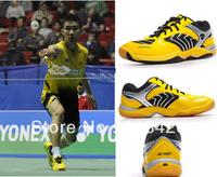Free Shiping Men and women Professional Badminton Shoes SHB92MX Yellow Sports Shoes EUR Size 36-45 Running Shoes