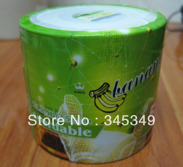 Wholesale 50discs/lot High Quality Banana 3inch 8cm Mini CD-R Printable Blank Discs 32X 215MB 25MIN Mini CDR CD Recordable Disc(China (Mainland))