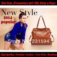 new 2014 bag women leather handbags Famous Brand 100% Genuine leather Women handbags fashion women  messenger  bags 201403023E
