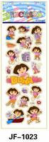 Free shipping 40 PCS Dora the Explorer Sticker Monkey Boots Benny Cartoon Soft Vinyl Plastic Gift Wall Kids School Reward JF1121