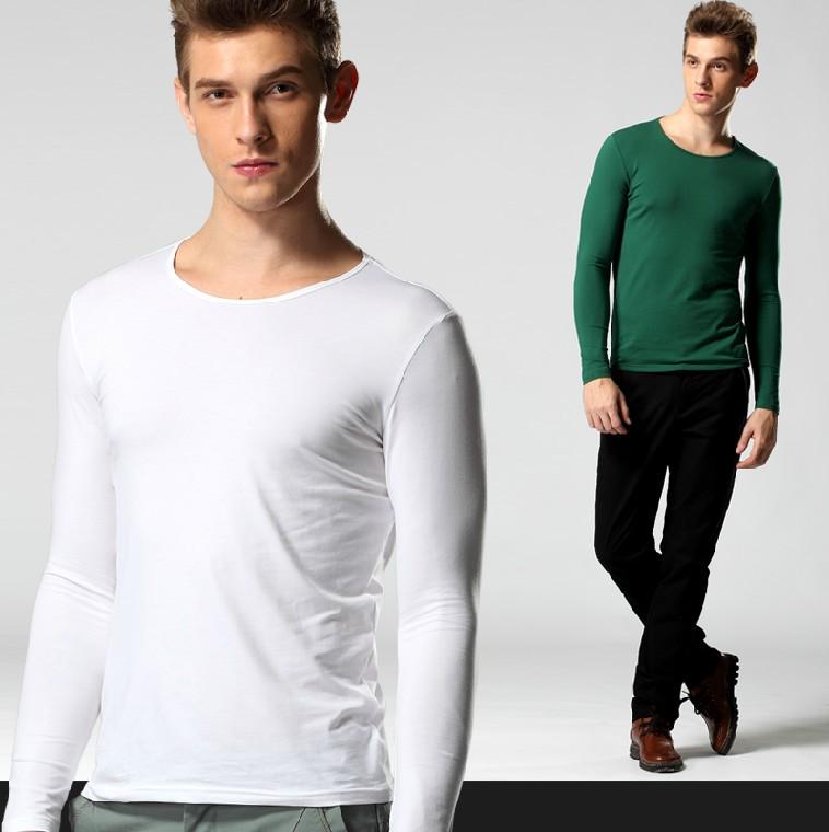 HOT Men's wear O-neck man long-sleeved's t-shirt Brand NC shirt cotton t shirt for men tshirt famous plus big size s-4xl free(China (Mainland))