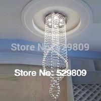 Free shipping new item Modern Chandelier Light Fixture spiral design luster crystal home lighting 100% Guanrantee
