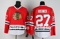 Cheap Chicago Blackhawks Jersey #27 Jeremy Roenick Hockey Jerseys wholesale in china Embroidery Logos Free shipping!!