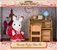 Free Shipping Original Sylvanian Families Chocolate Rabbit Sister Furniture Set Children's Toys Christmas Birthday Gifts