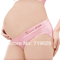 3pcs/Lot Free Shipping  Z-328  Maternity brand 2013 Pregnancy Low-waist  Maternity Panties U-type design