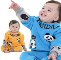 2013 New children's clothing set baby boy clothing suits for autumn and winter fleece sweatshirt infant twinset outwear DZ13