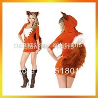 Free Shipping Sexy Orange Animal Fox Costumes AEWC-7503
