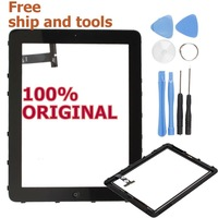 100% Origina Repalcement  LCD Digitizer Touch Screen Full Assembly Frame for iPad 1 (WIFI Only) Black with free shipment , tools