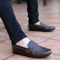 Free shipping leisure man leather shoes breathable leather men business leather shoes men's shoes for men flat