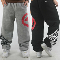 Men Sport Pants Baggy Cotton Winter Warm 3XL 2015 new sweatpants brand Rhino black/grey hip hop hiphop outdoor joggers trousers
