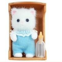 Free Shipping 2013 New Original Sylvanian Families Toys Baby Persian Cat Set Kids Toys Christmas Birthday Gifts