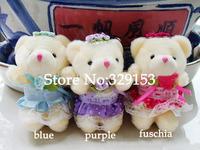 Free Shipping Hot sale lovely Plush  Wedding Sitting  teddy Bear Toy ,H-8cm 24pcs/LOT