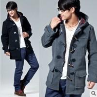 Men's Clothing Men's jacket Winter overcoat Outwear warm jacket for men Wool & Blends, BLACK GRAY M-XXXL, wholesale