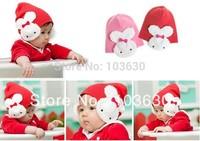 BB-055 2014 free transport toque baby rabbit ear muff hat Christmas hat infant children's hat