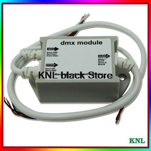10pcs/lot, LED DMX512 Module RGB Controller, Low Voltage DC12V -24V led strip DMX digital signals transformer, Free Shipping(China (Mainland))