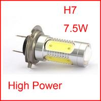 HotSale 2PCS H7 7.5W Super Bright Car LED Front Headlights High Power Light Fog Bulb Lights Lamp 12V White