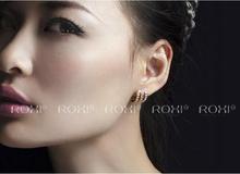 ROXI Brand Rose gold Plated Angel Wings CZ Stud Earrings Leaf Crystal Earring For Women Girls