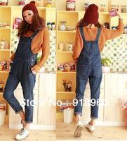 New sale Plus Size Denim Overalls Women's Jumpsuits Jeans/Fashion Ladies' Rompers pants/biggest waist 92cm/Free Shipping/WOJ