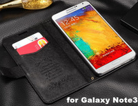 Business Cross Pattern PU Leather Stand Case For Samsung Galaxy Note3 N9000