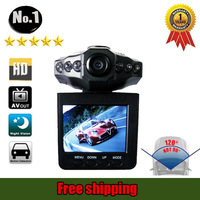 "Lowest Price, free shipping wholesale car dvr ,2.5""Color LCD ,6 IR LED  Night Vision HD h198  Car  Camera Recorder"