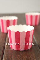 150pcs/lot,High temperature paper cake cups,Small white red/ blue stripe,green vines,red/yellow star baking cup,wholesale 5color