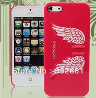 High quality !For iphone 5  case shell for apple phone c ,The wings of the angel,Collapsible phone support ,1 pcs free shipping,