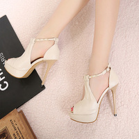 Sandalias shoes for women New arrival 2013 high heels shoes fashion thin heels sandals sexy cutout open peep toe pumps