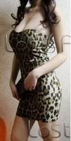 Vestido corset sexy women's tube top one-piece dress fashion elegant slim basic leopard print dress Polleras Falda corset saia