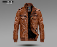 ON Sale Promotion Men'S Clothing 2014 Autumn Male Leather Clothing Male Slim Men'S PU Motorcycle Leather Jacket Coat  Cheap HOT