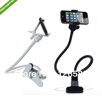 Free Shipping Universal Car Holder Desktop bed lazy bracket Kit Holder mobile Stand+car sucker For iphone Samsung smartphone
