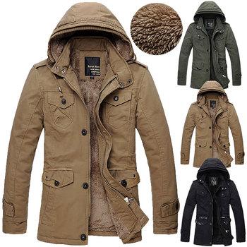 Men's Fleece Overcoat Thickening Faux Мех Winter Coat Parka Mens Super Warm Greatcoat ...
