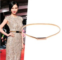 Angelababy fashion t mirror fashion elastic women's chain all-match gold belt decoration