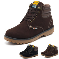 Winter Fashion Western Boots Bota Outdoor Leather Shoes For Man Motorcycle Boots Fur Shoes Sapatos