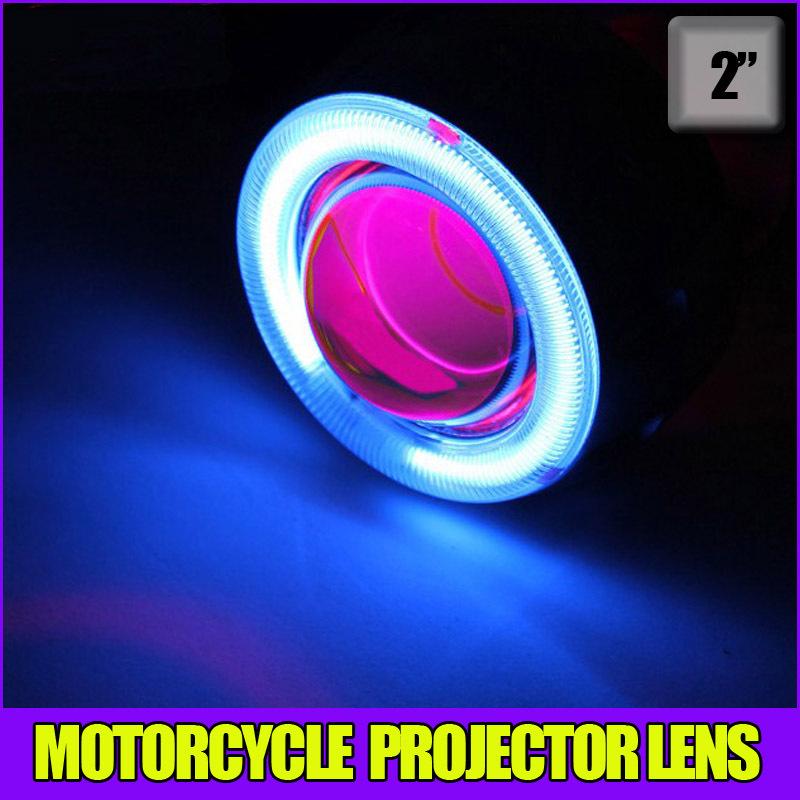 Motorcycle 35w 2 inch Hid Bixenon Projector Lens Headlight Kit 6000k 4300K Blue Green Red Yellow White CCFL Angel Eye(China (Mainland))