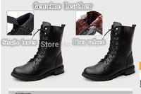2014 new,  women, Genuine Leather , plus velvet warm, snow boots, Martin boots, women's genuine leather boots, free shipping