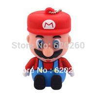 Free shipping,New arrive Super Mary, Genuine cartoon super mario 2GB/4gb/8gb/16gb/32gb usb 2.0 memory pen disk thumb/drive/gift